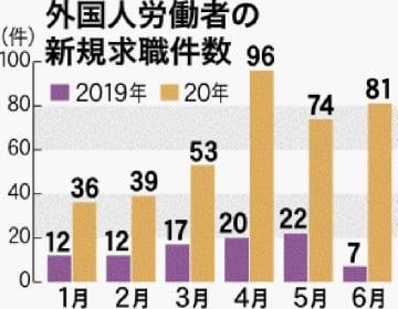 外国人労働者の新規求職件数